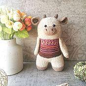 Куклы и игрушки handmade. Livemaster - original item Toy Bull amigurumi author`s handmade knitted. Handmade.