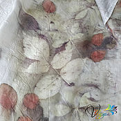 Аксессуары handmade. Livemaster - original item Silk scarf Dream of summer - EcoPrint. Handmade.