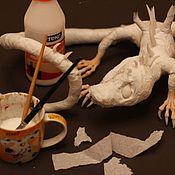 Материалы для творчества ручной работы. Ярмарка Мастеров - ручная работа Мастер-класс по изготовлению дракона. Handmade.