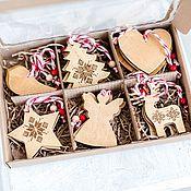 handmade. Livemaster - original item Set of birch bark toys with patterns. Birch bark toys. Handmade.