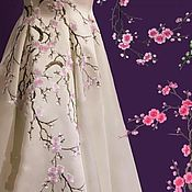 Материалы для творчества handmade. Livemaster - original item Thermoapplication branches of Sakura. Handmade.