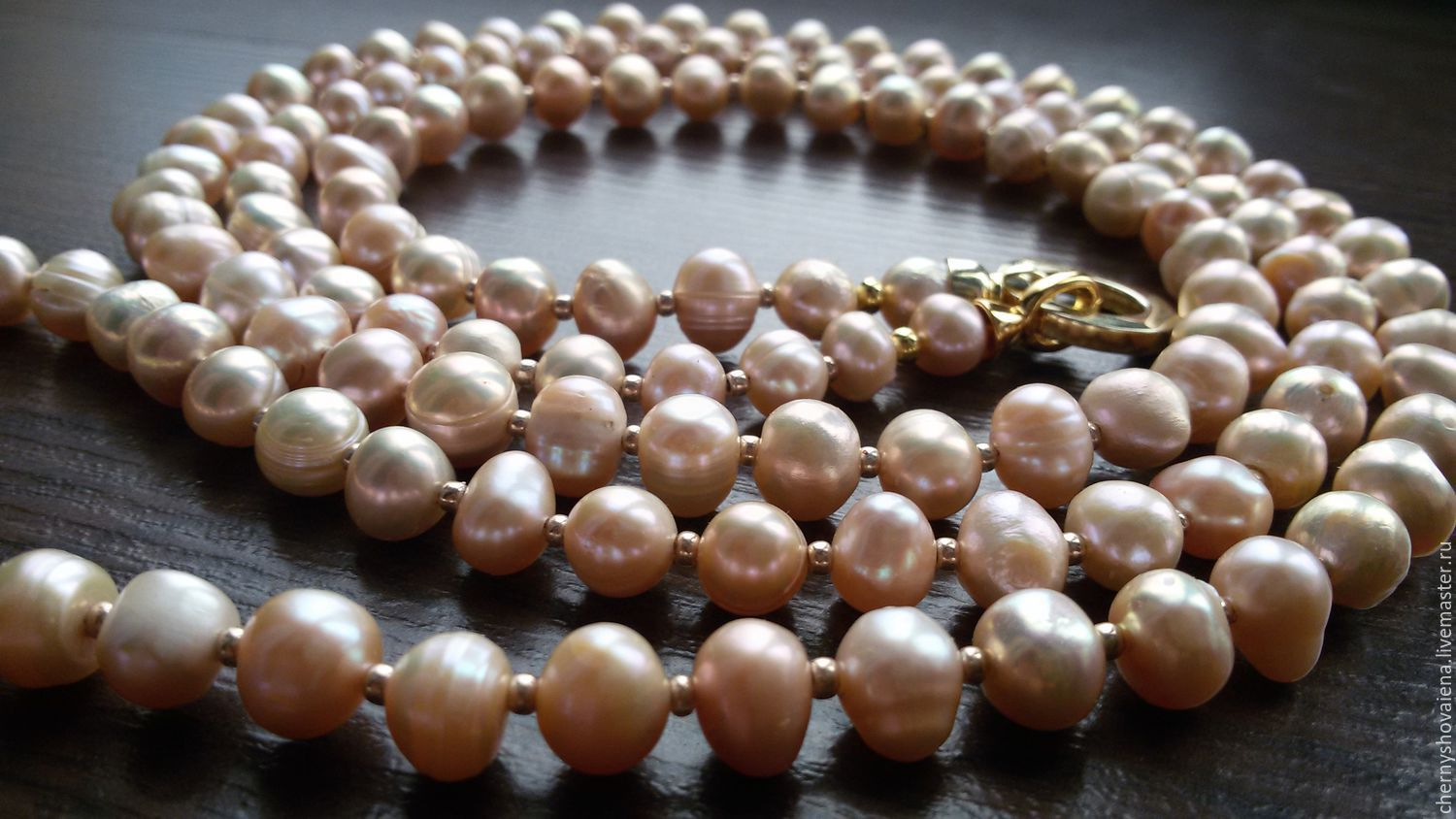 shop jewellery grafoli cream shipping shopping item necklace my pearl with livemaster pearls online on