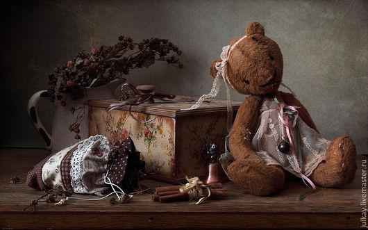 Мишки Тедди ручной работы. Ярмарка Мастеров - ручная работа. Купить Винтажная мишка. Handmade. Коричневый, мишка, пдарок