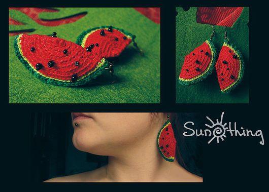 Earrings handmade. Livemaster - handmade. Buy Earrings 'Watermelon'.Watermelon, original gift, a bright accessory, designer jewelry, unusual