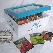 Для дома и интерьера handmade. Livemaster - original item Tea box with logo (office option). Handmade.
