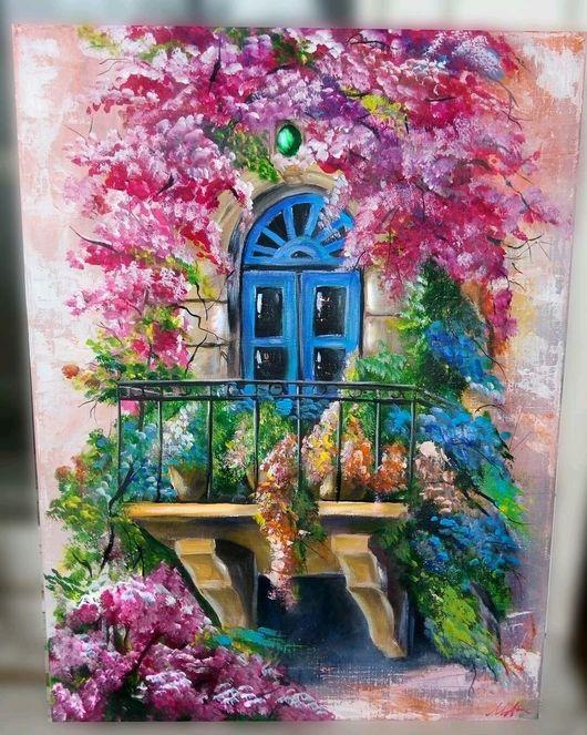 Город ручной работы. Ярмарка Мастеров - ручная работа. Купить Нежность. Handmade. Балкон, растения, защитный лак