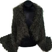Одежда handmade. Livemaster - original item Shawl warm from natural sheep`s wool and goat down. Handmade.