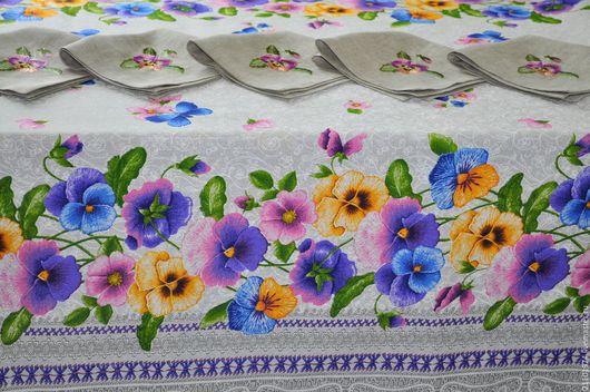 Текстиль, ковры ручной работы. Ярмарка Мастеров - ручная работа. Купить Скатерть на стол.. Handmade. Фуксия, полулён