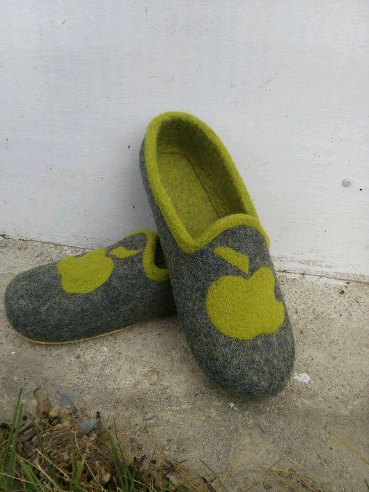 Обувь ручной работы. Ярмарка Мастеров - ручная работа. Купить Мужские тапочки  45р. Handmade. Темно-серый, обувь, подошва