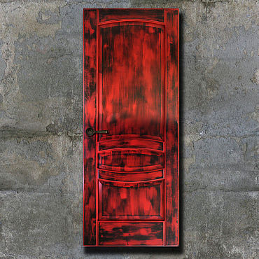 Для дома и интерьера ручной работы. Ярмарка Мастеров - ручная работа Двери: Декорирование межкомнатной двери в стиле лофт.. Handmade.