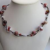Украшения handmade. Livemaster - original item Beads Jasper beads in silver copyright jewelry from natural stones. Handmade.