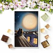 Открытки handmade. Livemaster - original item Postcard Moonlight. Handmade.