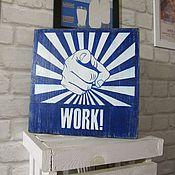 Для дома и интерьера ручной работы. Ярмарка Мастеров - ручная работа Табличка деревянная с надписью. Handmade.