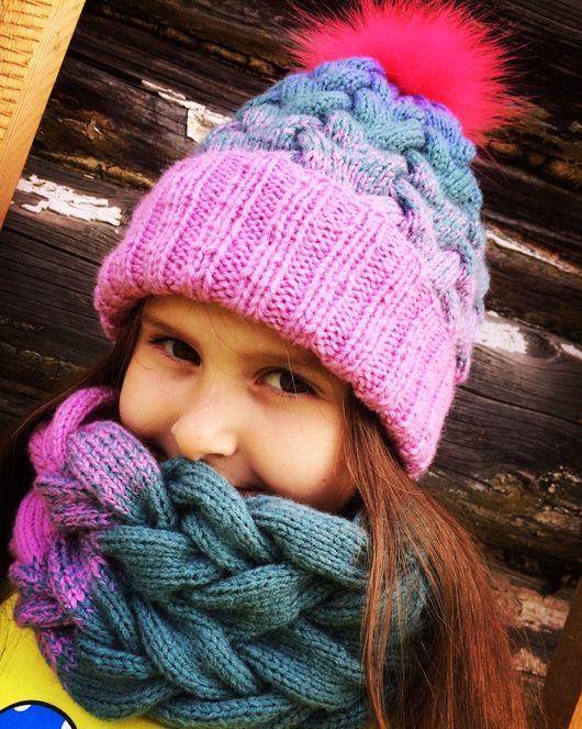 Комплекты аксессуаров ручной работы. Ярмарка Мастеров - ручная работа. Купить Комплект шапка-снуд детский. Handmade. Комплект вязаный