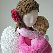 Куклы и игрушки ручной работы. Ярмарка Мастеров - ручная работа Ангел мама в розовом 2. Handmade.