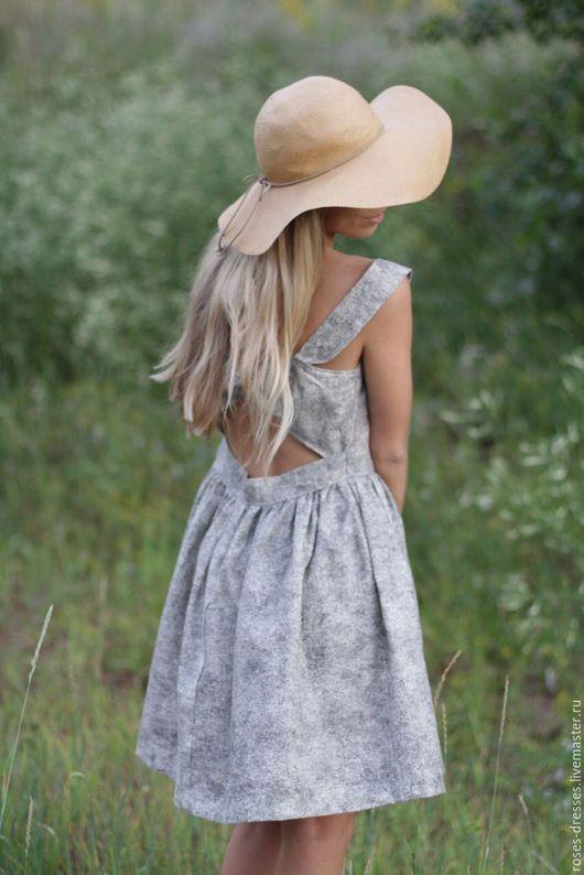 """Платья ручной работы. Ярмарка Мастеров - ручная работа. Купить Сарафан  """"Grey color"""". Handmade. Серый, бантик"""
