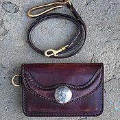 Сумки и аксессуары handmade. Livemaster - original item Wallet leather Denga 8. Handmade.