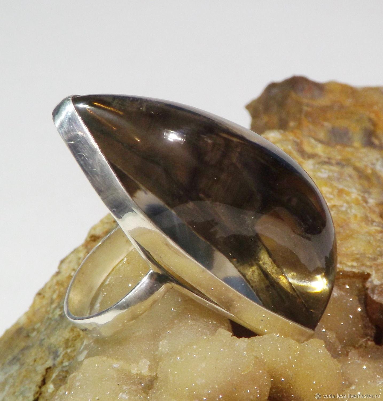 """Раухтопаз кольцо в серебре """"Дымчатый дракон"""", Кольца, Онгудай,  Фото №1"""