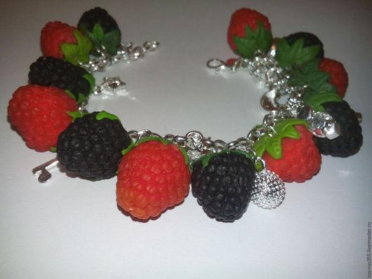 """Браслеты ручной работы. Ярмарка Мастеров - ручная работа. Купить Браслет """"ягодное изобилие """". Handmade. Комбинированный, браслеты"""