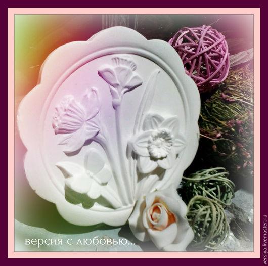 """Картины цветов ручной работы. Ярмарка Мастеров - ручная работа. Купить Панно """"Нарцисс"""". Handmade. Белый, панно на стену"""