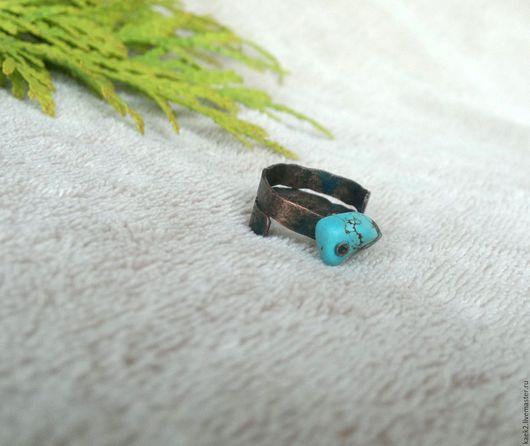 """Кольца ручной работы. Ярмарка Мастеров - ручная работа. Купить кольцо """"Из глубины морской"""". Handmade. Бирюзовый голубой синий"""