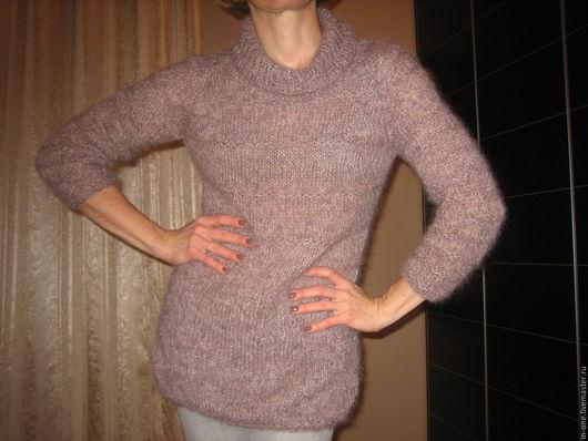 Кофты и свитера ручной работы. Ярмарка Мастеров - ручная работа. Купить пуловер розовая дымка. Handmade. Сиреневый, пуловер вязаный