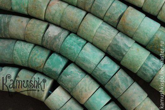 Для украшений ручной работы. Ярмарка Мастеров - ручная работа. Купить Амазонит, шайбочки. Нить 39,5 см. Handmade.