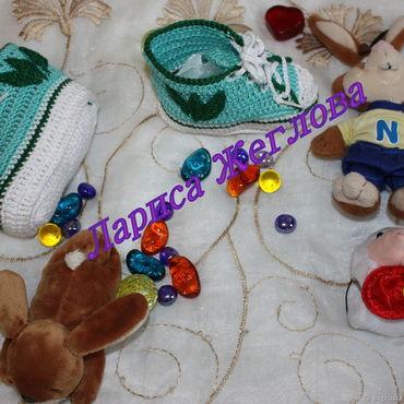 Обувь ручной работы. Ярмарка Мастеров - ручная работа Пинетки Кеды. Handmade.