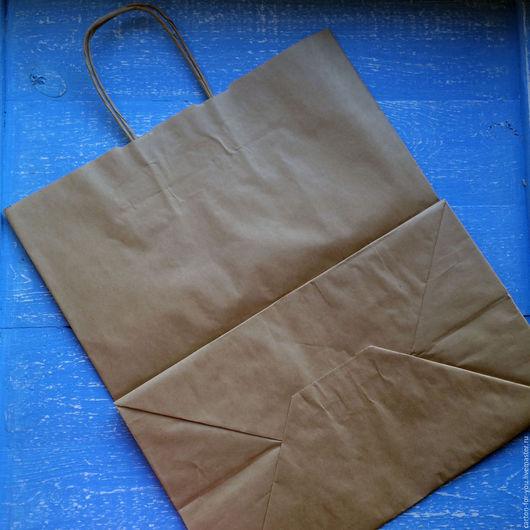Упаковка ручной работы. Ярмарка Мастеров - ручная работа. Купить Крафт пакет с кручеными ручками 220х120х250. Handmade. Белый, коробка