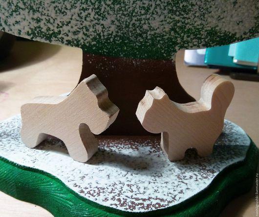"""Игрушки животные, ручной работы. Ярмарка Мастеров - ручная работа. Купить Фигурки """"Кошка с собакой"""". Handmade. Белый, фигурка собаки"""