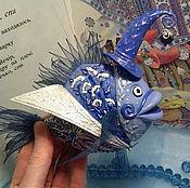 Для дома и интерьера ручной работы. Ярмарка Мастеров - ручная работа Рыбка   Ультрамариновый маг. Handmade.