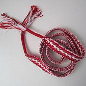 Аксессуары handmade. Livemaster - original item Belt white-red. Handmade.