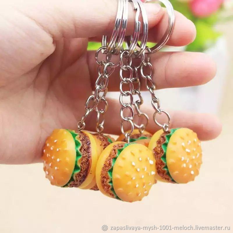 """Брелок """" Гамбургер """", Аксессуары для кукол и игрушек, Новосибирск,  Фото №1"""