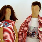 Куклы и игрушки ручной работы. Ярмарка Мастеров - ручная работа Портретная семейная парочка в стиле Тильда. Handmade.