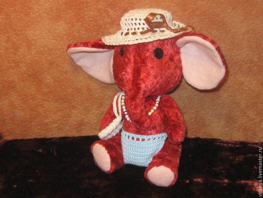 Мишки Тедди ручной работы. Ярмарка Мастеров - ручная работа. Купить Слоник Марта. Handmade. Бордовый, слоник