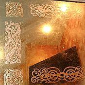 Для дома и интерьера ручной работы. Ярмарка Мастеров - ручная работа Орнаментальное состаренное винтажное зеркало с кельтским узором. Handmade.