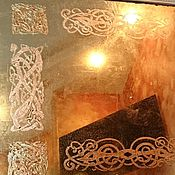 Для дома и интерьера handmade. Livemaster - original item Ornamental antique vintage mirror with Celtic pattern. Handmade.