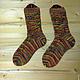 Носки, Чулки ручной работы. Носки вязаные Краски осени. Pentu ручное вязание. Ярмарка Мастеров. Абстрактный, носки женские