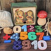 """Куклы и игрушки ручной работы. Ярмарка Мастеров - ручная работа Игровой набор """"Посчитаем?"""". Handmade."""