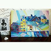 Картины и панно ручной работы. Ярмарка Мастеров - ручная работа Моё небо над Питером. Handmade.