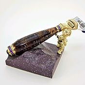 Сувениры и подарки handmade. Livemaster - original item Men`s gift-Jewelry Razor with stand handmade with stones. Handmade.