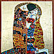 Copy of Painting of the semi-precious stones Gustav Klimt The Kiss. Pictures. House of Sun. Artist Irina Bast. Online shopping on My Livemaster.  Фото №2