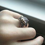 Украшения handmade. Livemaster - original item Ring with quartz from a sheet of Holly. Handmade.