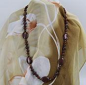 Украшения handmade. Livemaster - original item Beads from natural stones Jasper