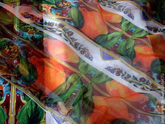 Шитье ручной работы. Ярмарка Мастеров - ручная работа. Купить D&G оригинал шелковый шифон , Италия. Handmade. Итальянские ткани