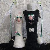 Куклы и игрушки ручной работы. Ярмарка Мастеров - ручная работа Свадебные коты. Handmade.
