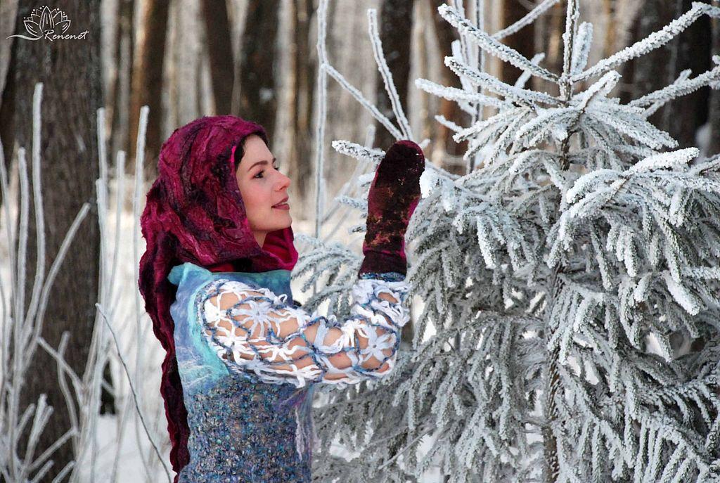 """Валяный капюшон """"Эльфийский праздник"""", Капюшоны, Смоленск,  Фото №1"""