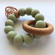 Подарок новорожденному ручной работы. Ярмарка Мастеров - ручная работа Подарок новорожденному: Грызунок - массажное кольцо на Первый зуб. Handmade.