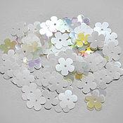 Материалы для творчества handmade. Livemaster - original item Motifs flowers France Mix White, 10 mm.. Handmade.