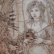 """Картины и панно ручной работы. Ярмарка Мастеров - ручная работа Картина """"Птичий грай"""". Handmade."""